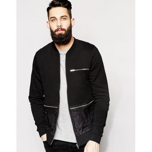 Куртка-пилот с молниями